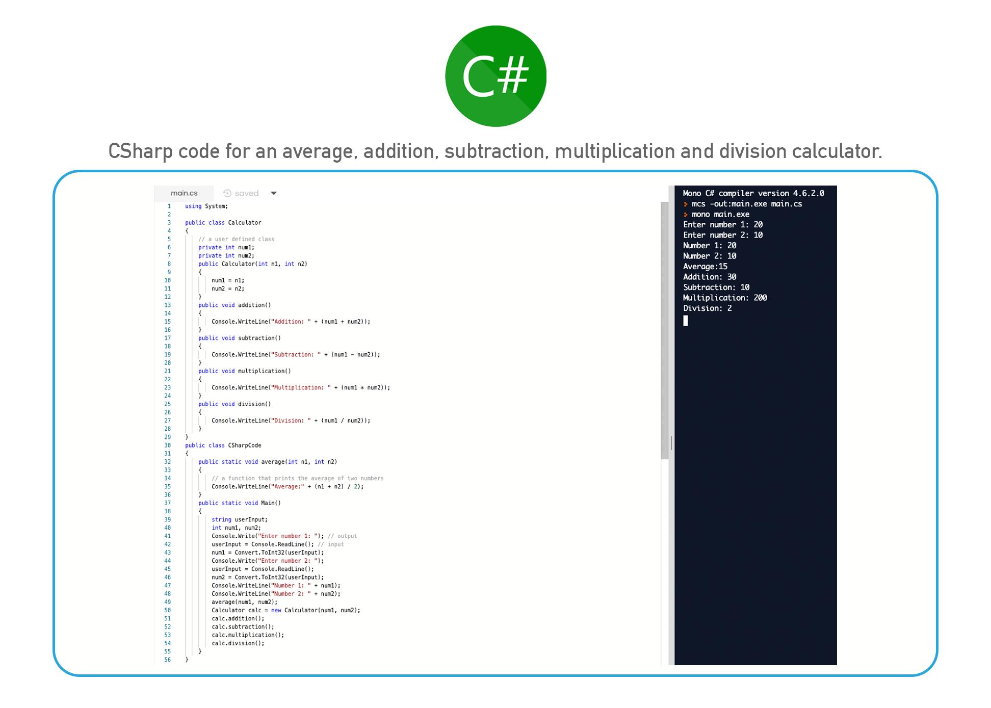 C# coding language