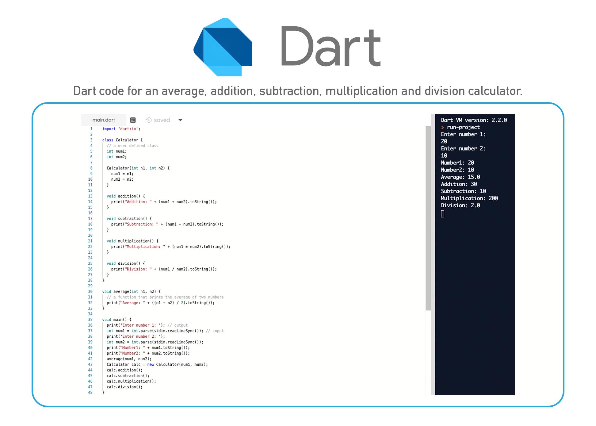 Dart coding language