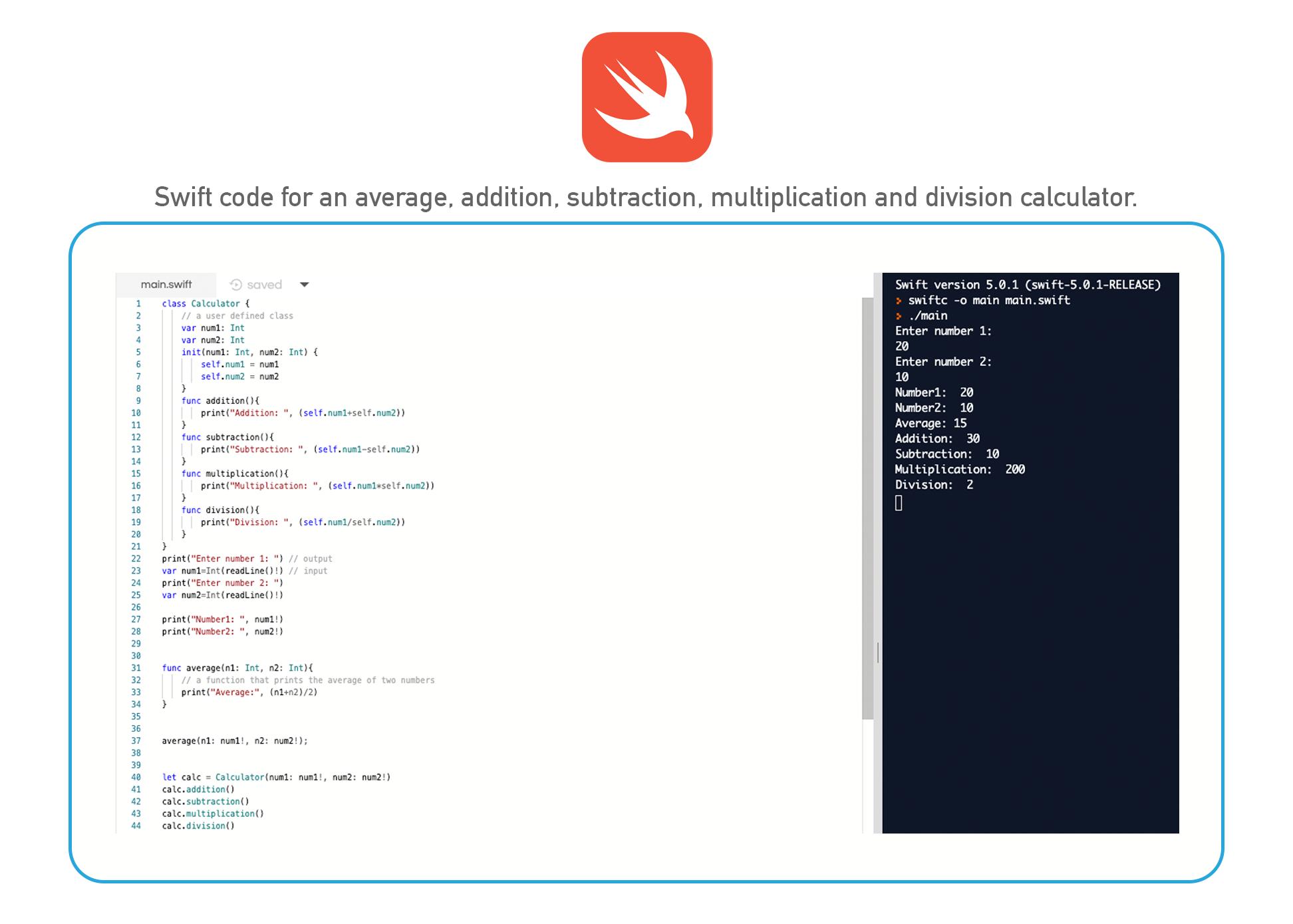 Swift coding language